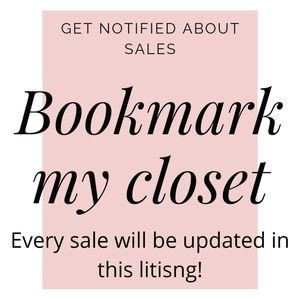 Bookmark my closet by liking this post for SALES